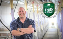 Congratulations to Aaron Perry for celebrating 20 years with Iowa Select Farms