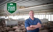 Congratulations to Tom Boge for celebrating 25 years with Iowa Select Farms!