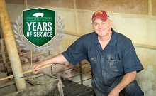 Craig Hickethier Celebrates 25 Years with Iowa Select Farms