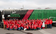Iowa Select Farms and the Deb and Jeff Hansen Foundation's Operation Christmas Meal Stops in Des Moines