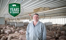 Doug Keninger Celebrates 25 Years with Iowa Select Farms