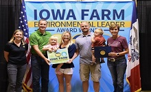 Fourth Generation Farmer from Shell Rock Recognized for Environmental Leadership