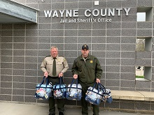 Wayne County Sherrif's Department Receives Comfort Kits