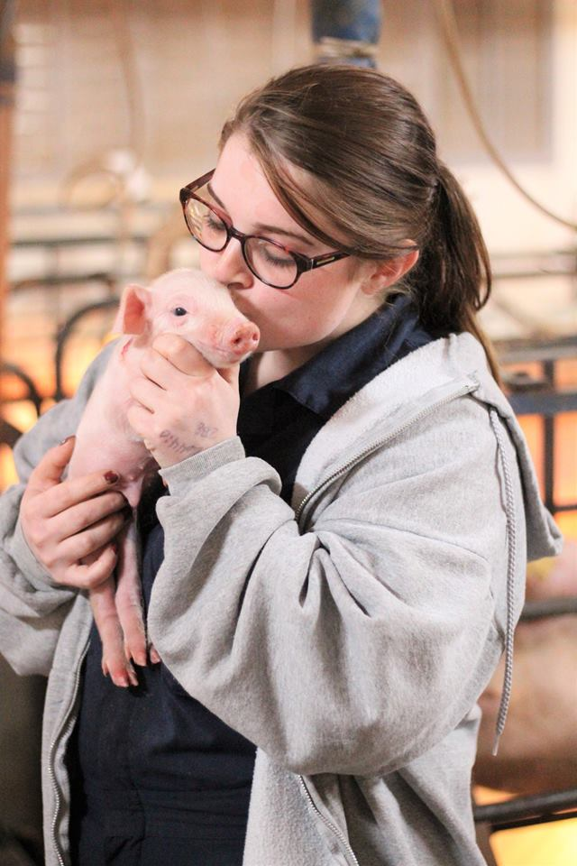 Farrowing Department Head, Hannah Holm