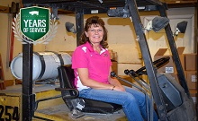 Congratulations to Cindy Ziegler for celebrating 20 years with Iowa Select Farms!