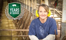 Congratulations to Mary Kraft for celebrating 20 years with Iowa Select Farms